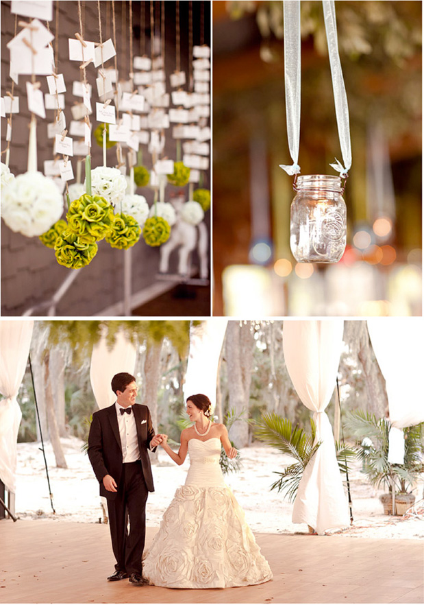 green and white florida wedding tent