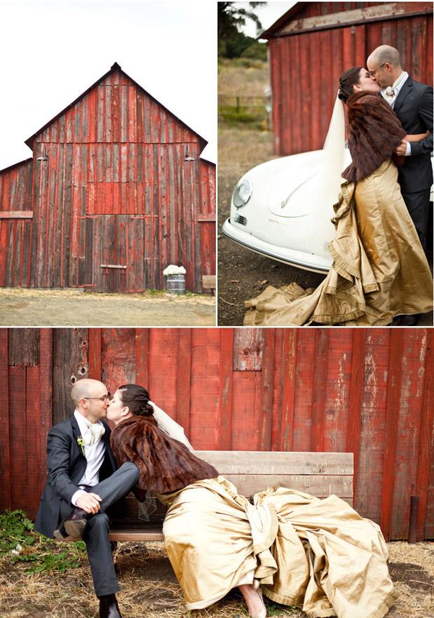fur caplet fall wedding