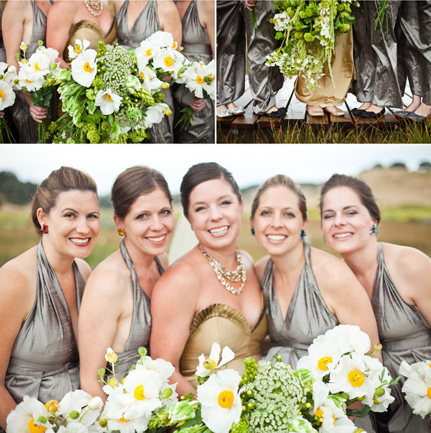 gray grey bridesmaid dresses