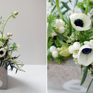 Cinder Block Centerpieces by Bash, Please
