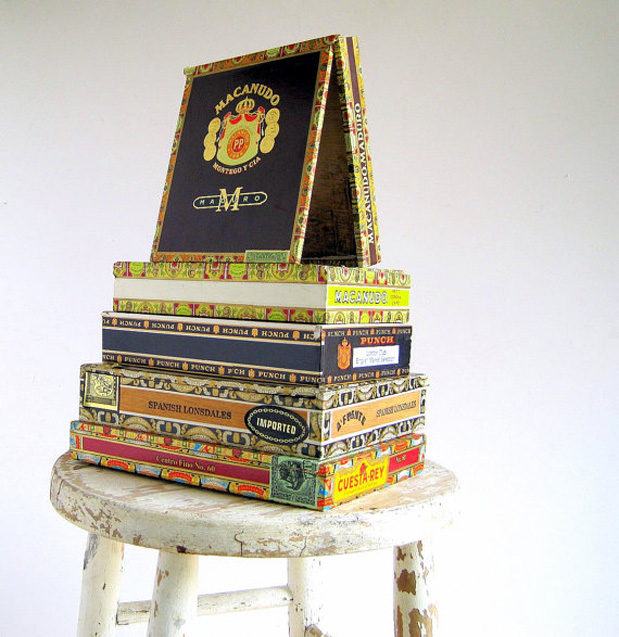 cigar boxes wedding ideas centerpiece