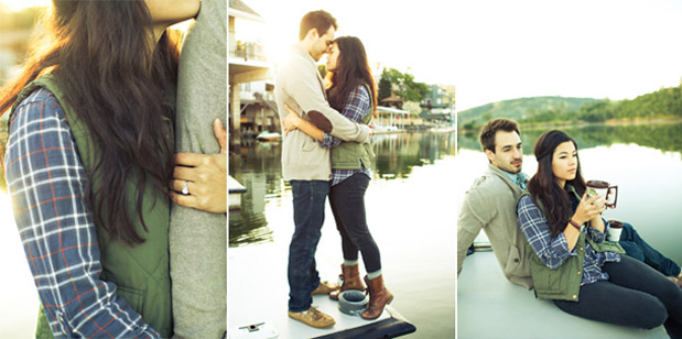 Wedding Blog Fishing at the Lake: Rustic Engagement