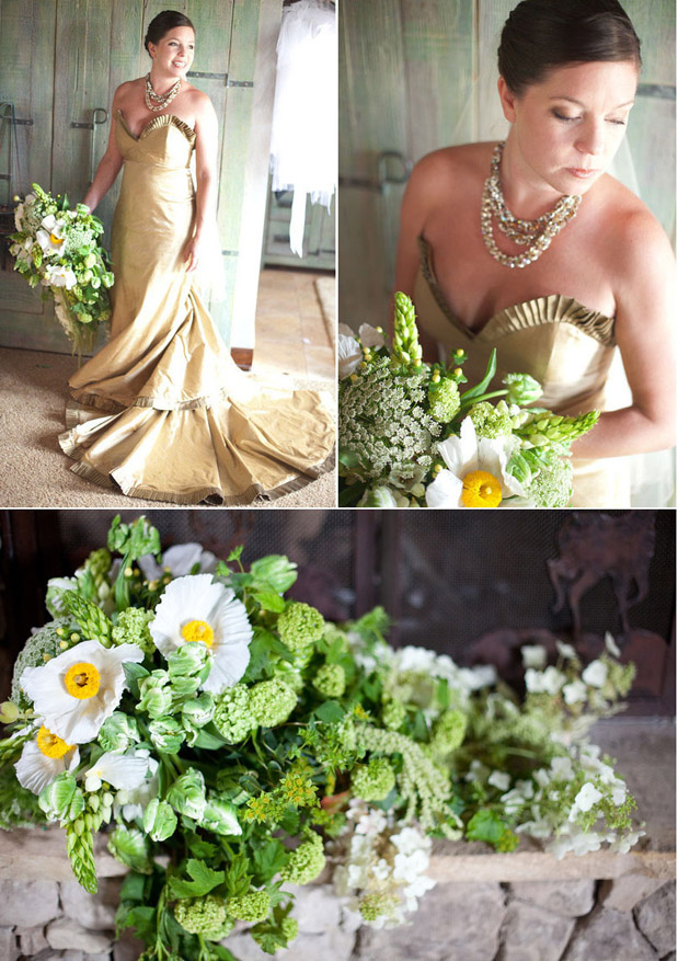 green white yellow flowers bouquet