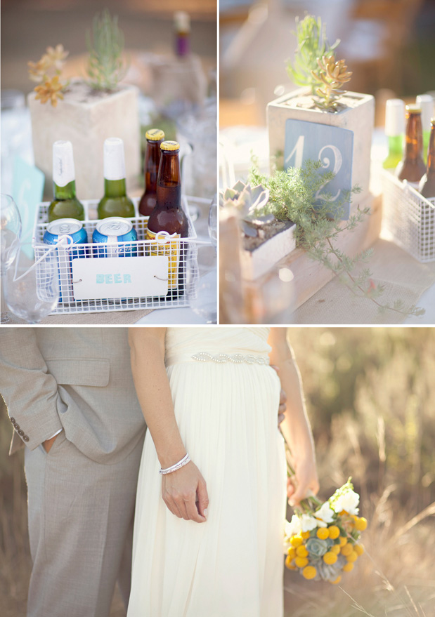 beer caddy wedding centerpiece