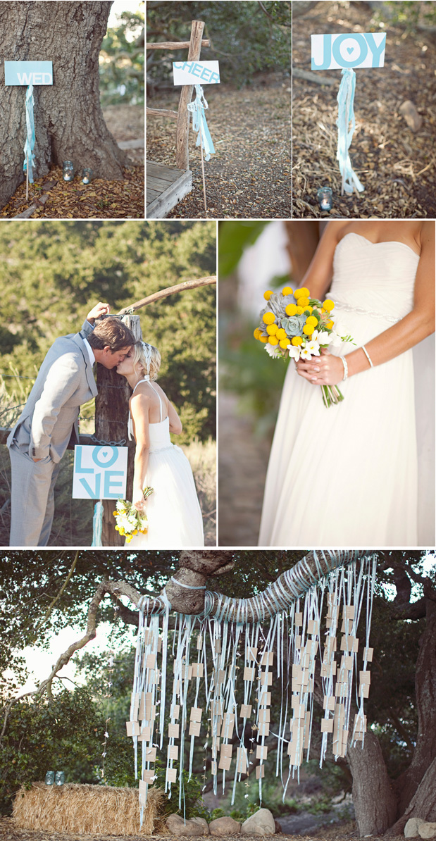 aqua wedding ideas details diy signs