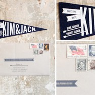Pennant Flag Save The Dates