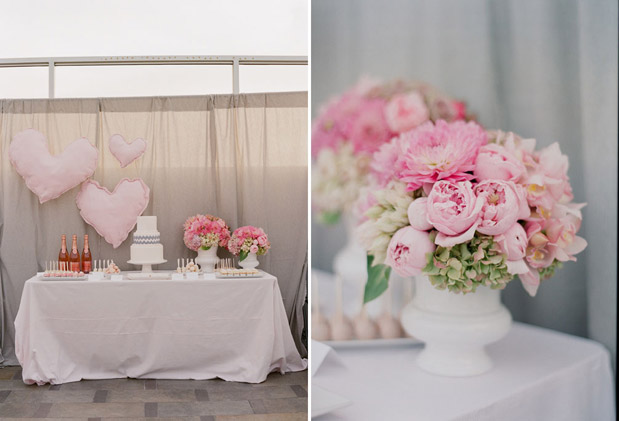 pink flower centerpiece lover.ly