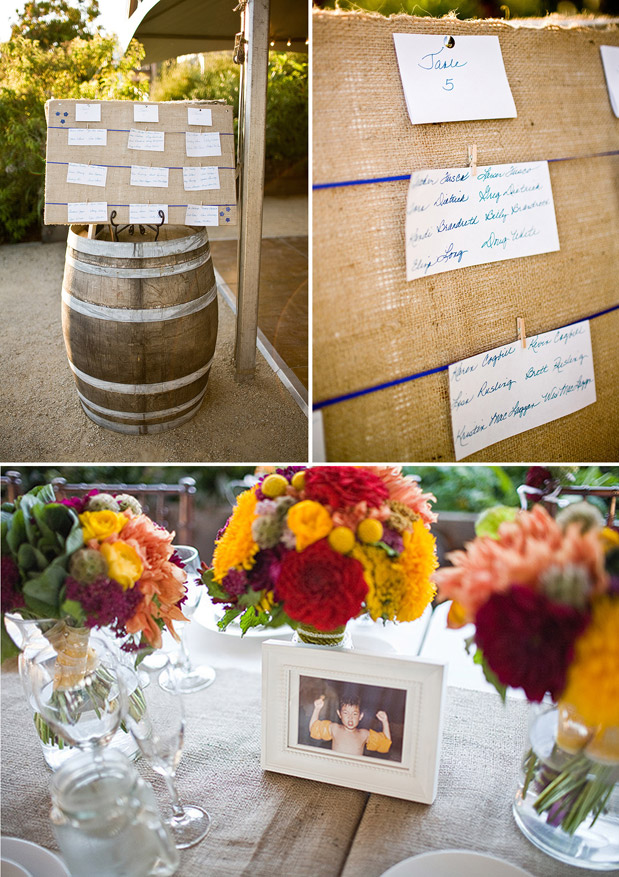 burlap place cards