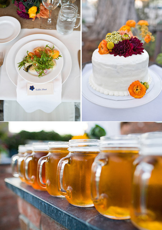 autumn wedding cake beer wedding