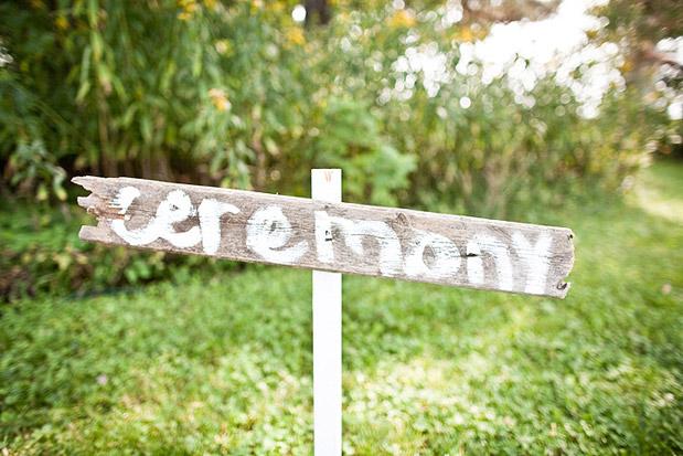 ceremony wedding sign