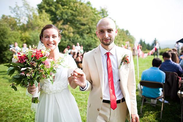 red wedding bride groom tie