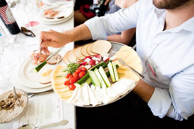 family style wedding food