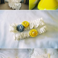 Modern Yellow at Langham: Rhysa and Andy Wed