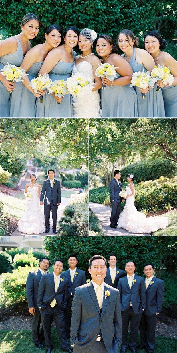 yellow and gray wedding inspiration