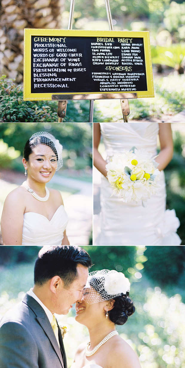 yellow white gray roses wedding bouquet