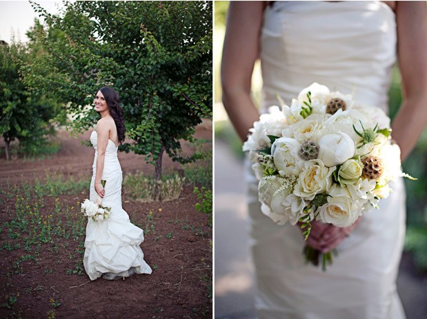 white green rustic bouquet