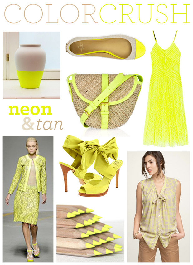 Wedding Blog Neon Yellow with Ampersand Design Studio