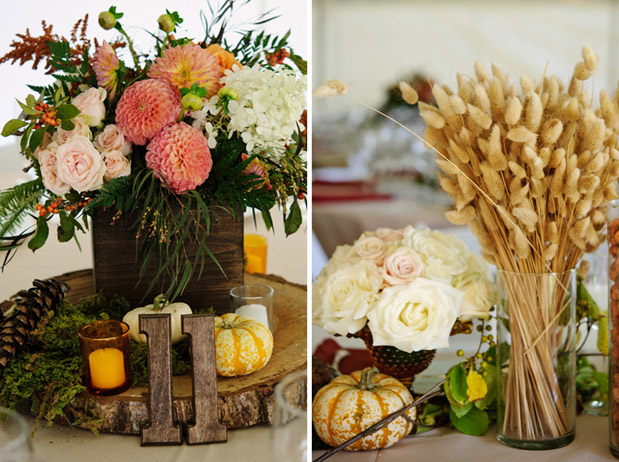 Ruche autumn wedding decor for Autumn wedding decoration