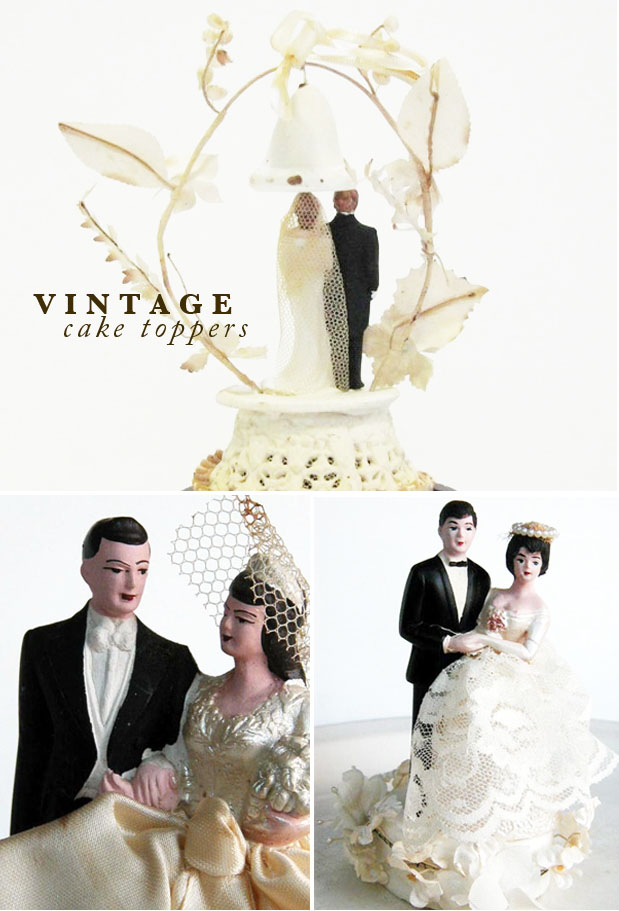 Wedding Blog Vintage Cake Toppers