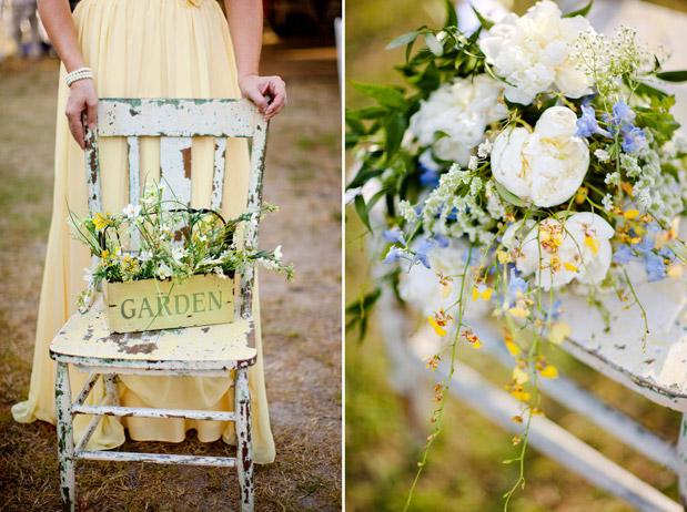 yellow white green flower bouquet