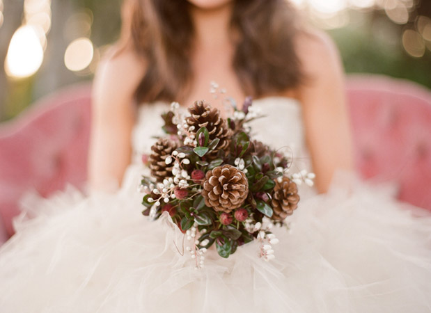 Wedding Blog Pink and Pine Cones: A Perfect Fall Pair