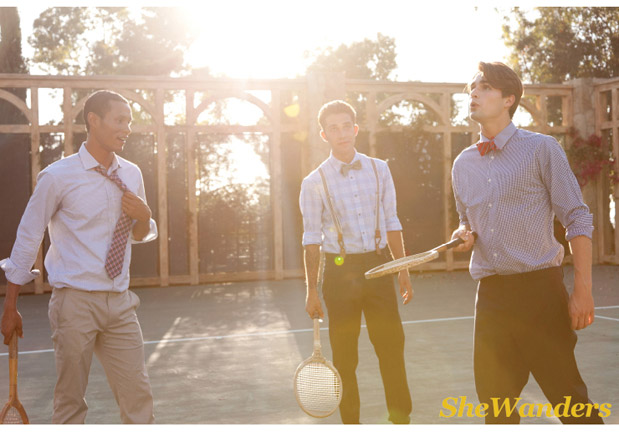 Wedding Blog Vintage Tennis With the Groomsmen