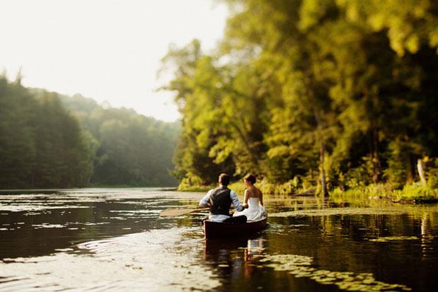 creative getaway ideas canoe