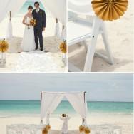 Destination Mexico Wedding with a Catamaran Reception
