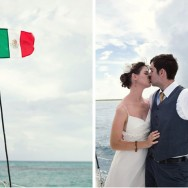 Destination Mexico Wedding with a Catamaran Reception