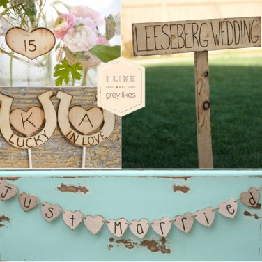 Rustic Wooden Wedding Elements
