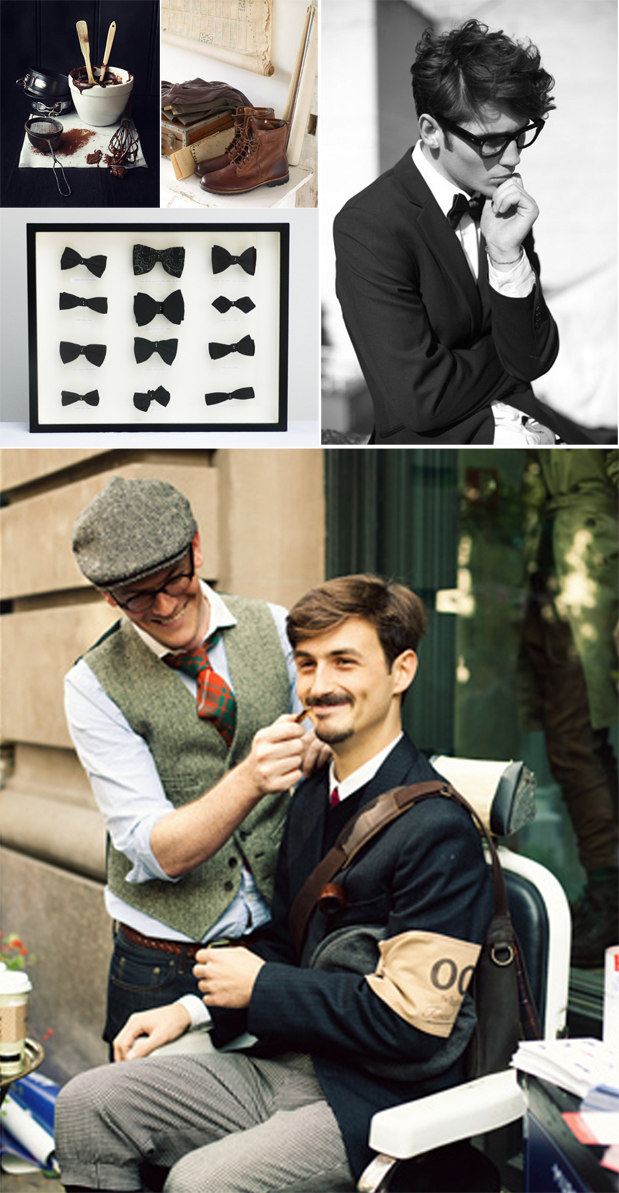 Wedding Blog Tweed, Bow Ties, and Manly Chocolate