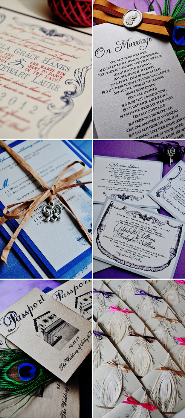 Wedding Blog Vintage Invites Stationery Winner