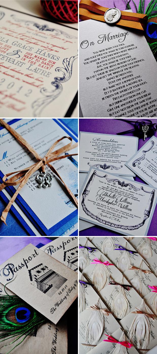 Wedding Blog Vintage Invites Stationery Winner