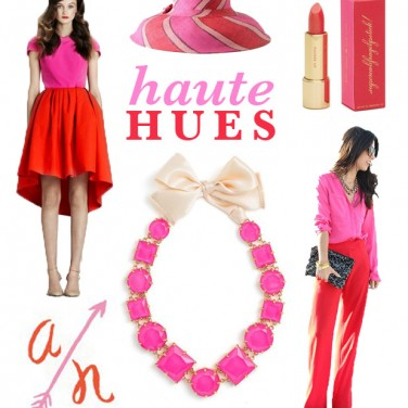 Haute Hues: Fuschia and Lipstick Red