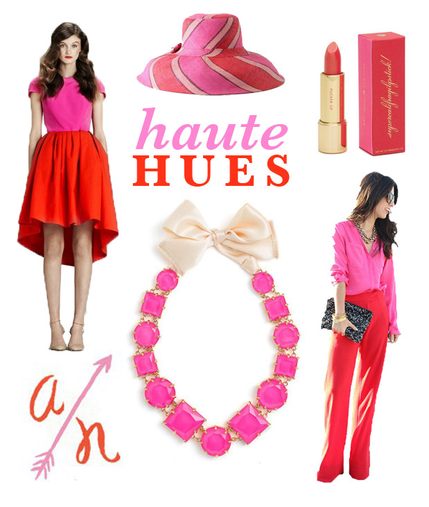 Wedding Blog Haute Hues: Fuschia and Lipstick Red