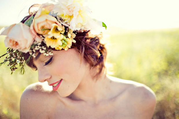 Wedding Blog Spring Flowers in Her Hair