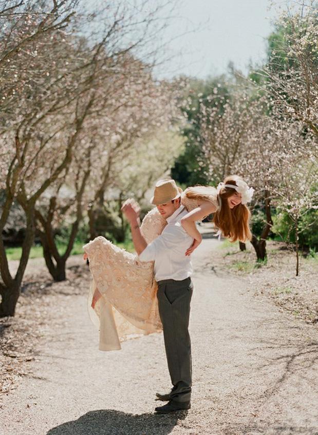 Wedding Blog Spring Flowers in Her Hair