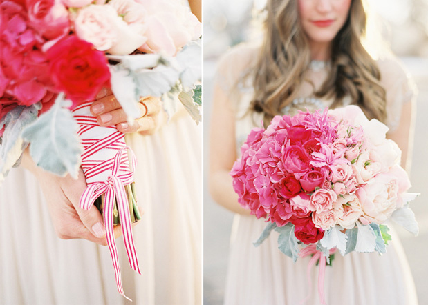 ombre bouquet for summer pink and red