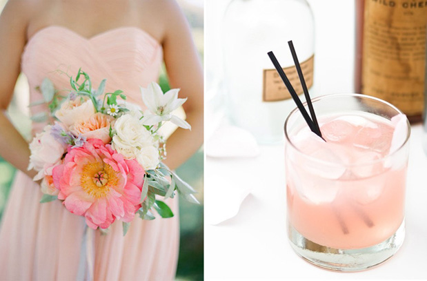 Wedding Blog Perfect Pairs: Cocktails + Bouquets