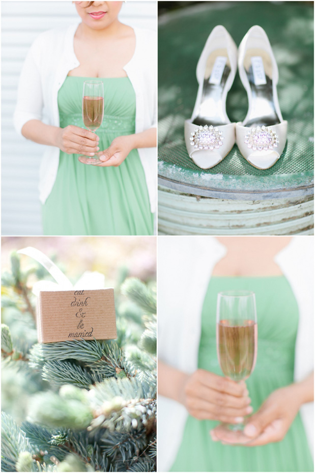 Wedding Blog Peach and Mint Romance