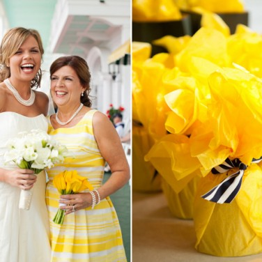 Preppy Yellow Wedding at Benhase Hall