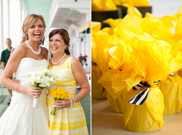Wedding Blog Preppy Yellow Wedding at Benhase Hall