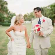 Navy and Pink Florida Wedding