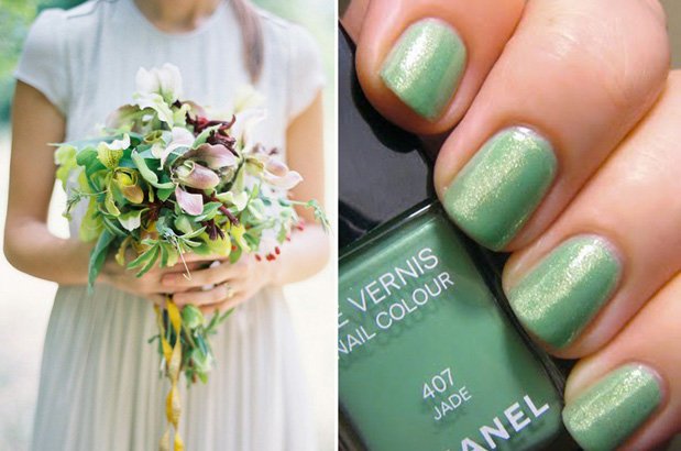 Wedding Blog Perfect Pairs: Polish and Bouquets