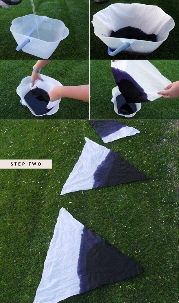 Wedding Blog DIY OMBRE FLAGS