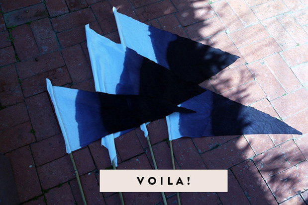 Wedding Blog DIY OMBRE FLAGS