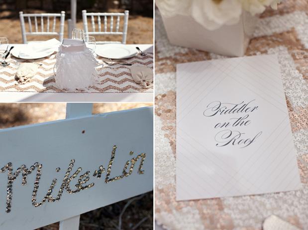 Wedding Blog Chevron Sequin Glam