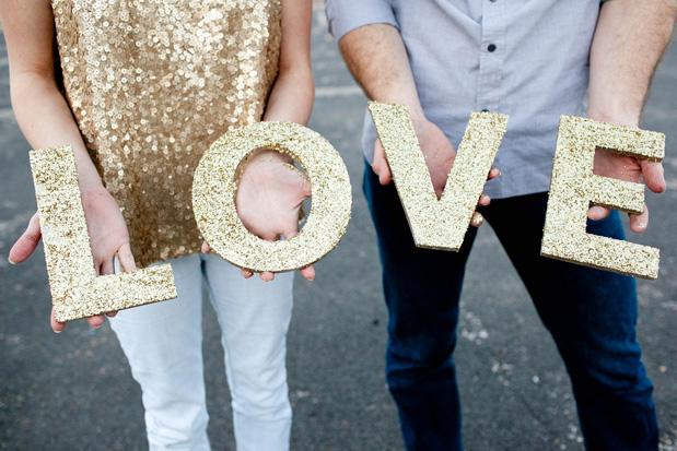 Wedding Blog Glitter DIY Engagement