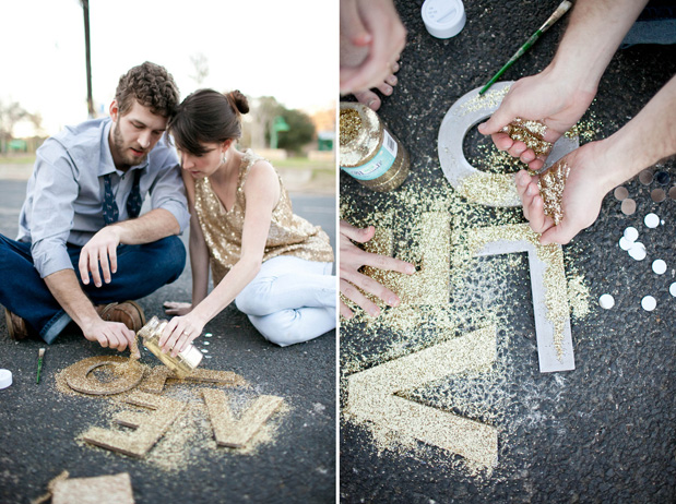 Wedding Blog Glitter DIY Engagement