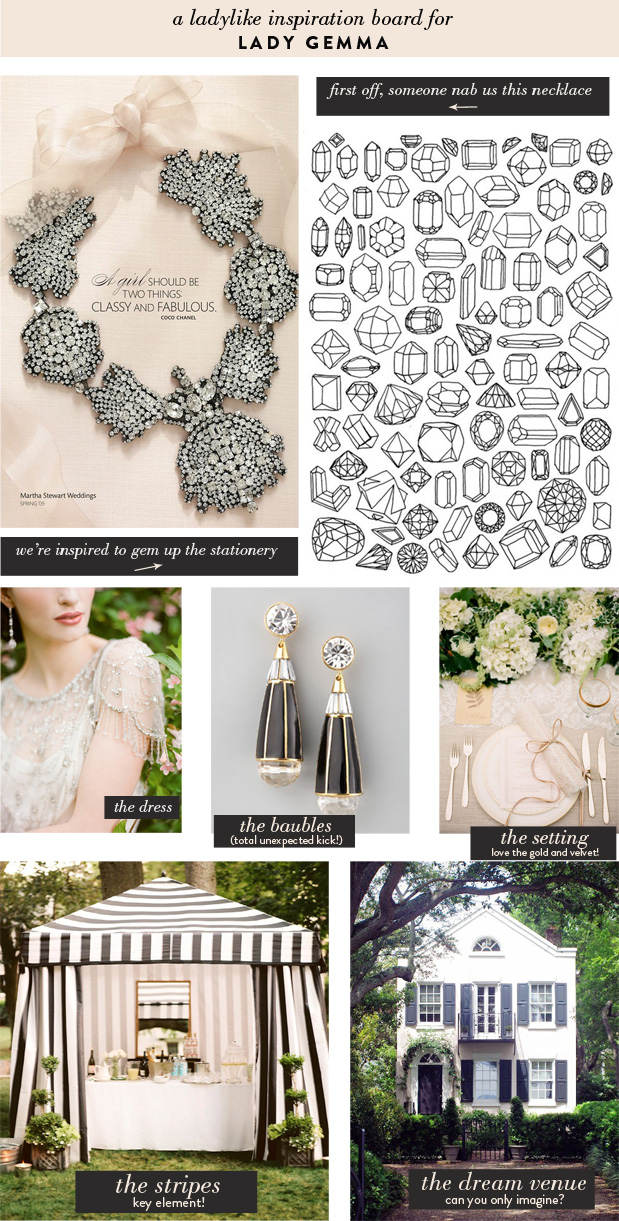 Wedding Blog Lady Gemma | Blush & Black Inspiration